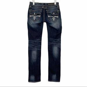 Rock Revival Y2K Scarlett Straight Jeans Dark 28